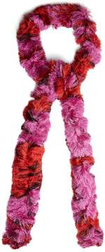 Missoni Skinny fine-knit bi-colour scarf