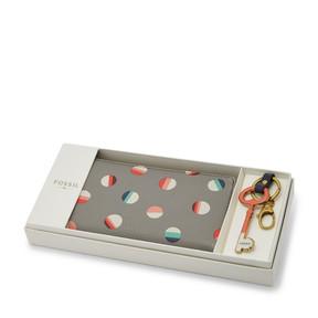 Fossil Brenna Zip Clutch and Keyfob Gift Set