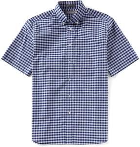 Daniel Cremieux Signature Check Stretch Short-Sleeve Woven Shirt