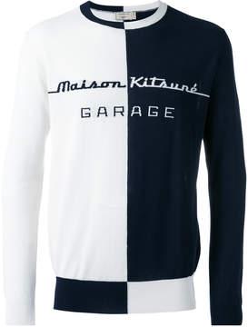 MAISON KITSUNÉ 'garage' pattern jumper