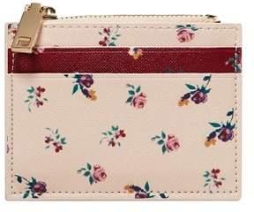 MANGO Floral saffiano-effect purse