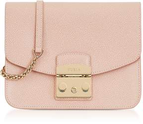 Furla Moonstone Leather Metropolis Small Crossbody