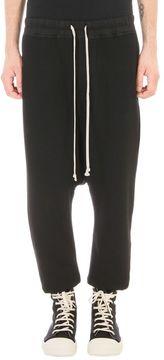 Drkshdw Drawstring Black Jersey Pants