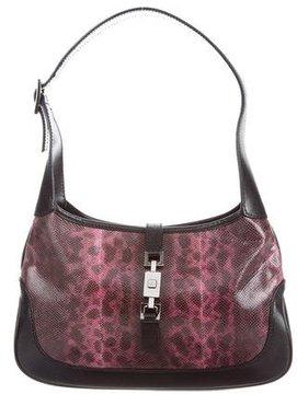 Gucci Lizard Shoulder Bag - PINK - STYLE