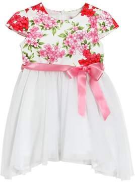 Miss Blumarine Cotton Muslin & Glittered Tulle Dress