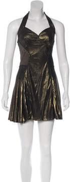 Zac Posen Metallic Jersey Dress