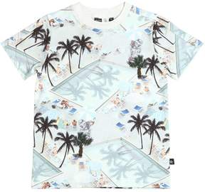 Molo Pool & Palms Print Cotton Jersey T-Shirt