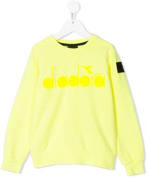 Diadora Junior logo print sweatshirt