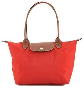 Longchamp Burnt Red Nylon Canvas Le Pliage S Long Strap Bag - ONE COLOR - STYLE