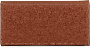 Longchamp Le Foulonne Leather Continental Wallet - MEDIUM BROWN - STYLE