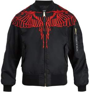 Marcelo Burlon County of Milan Wing-embroidered bomber jacket