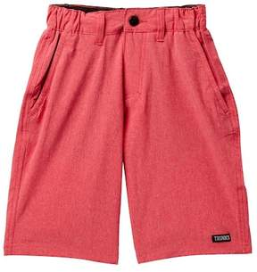 Trunks Surf and Swim CO. Red Chambray Multi Shorts (Big Boys)