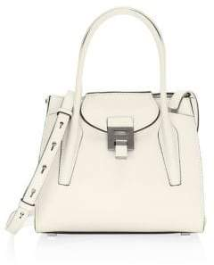 0a6684524850 Michael Kors Medium Bancroft Leather Satchel - OPTIC WHITE - STYLE
