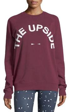 The Upside Sid Crewneck Logo Cotton Pullover Sweatshirt