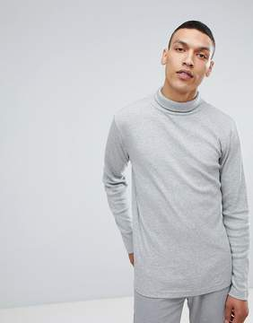 Lindbergh Long Sleeve Roll Neck in Gray