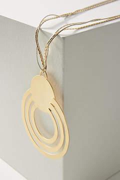 Anthropologie Solar Orbit Pendant Necklace