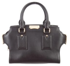 Burberry Small Clifton Tote - BLACK - STYLE