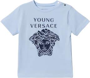 Versace Pale Blue Medusa Print Infants T-Shirt