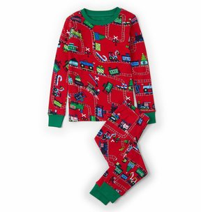 Hatley Boy's Magical Christmas Train Pajama Set