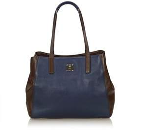 MCM Pre-owned: Bicolor Leather Tote Bag.