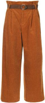 G.V.G.V. corduroy pleated trousers