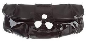 Stuart Weitzman Petals Patent Leather Clutch w/ Tags