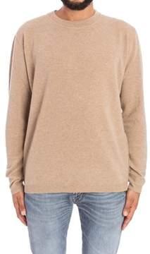 Laneus Men's Beige Wool Sweater.