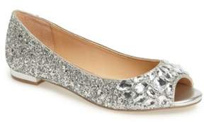 Badgley Mischka Women's Claire Embellished Flat