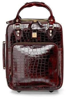 Aspinal of London Candy Case In Deep Shine Amazon Brown Croc