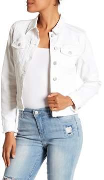 Nine West Sandy Distressed Denim Jacket
