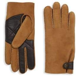 UGG Sheepskin Snap Tab Smart Gloves