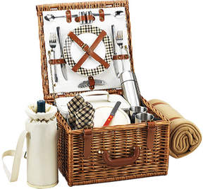 Picnic at Ascot Cheshire Basket for Two with Coffee Set/Blanket