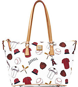 Dooney & Bourke As Is MLB Angels Zip Top Shopper - ONE COLOR - STYLE