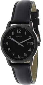 Timex Men's South Street Watch, Black Leather Strap