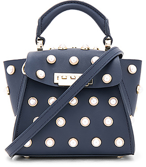 Zac Zac Posen Eartha Mini Top Handle Bag in Navy.