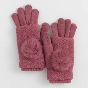World Market Berry 3 Way Touch Screen Gloves