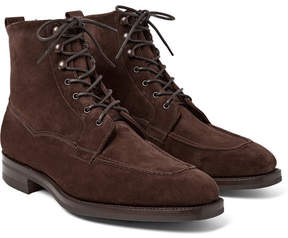 Edward Green Nevis Shearling-Lined Suede Boots