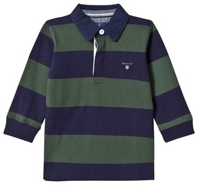 Gant Green and Navy Bar Stripe Rugby