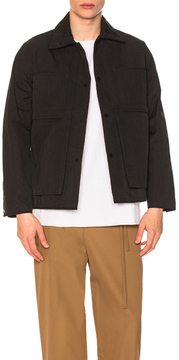 Craig Green Quilted Workwear Jacket in Black.
