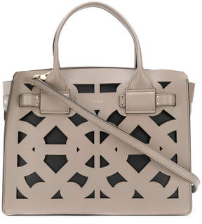 Furla lattice tote