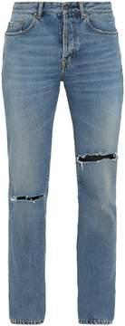Saint Laurent Logo-embroidered slim-fit jeans