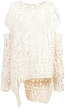 Barbara I Gongini loose distressed knit jumper
