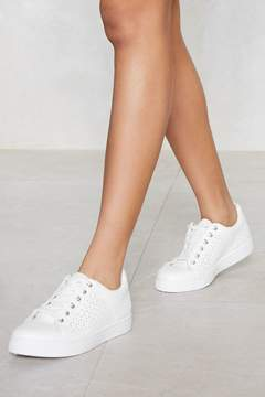Nasty Gal Get Some Space Laser Cut Sneaker