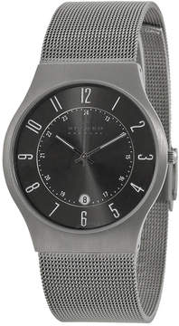 Skagen Titanium Gunmetal Dial Stainless Steel Mesh Men's Watch
