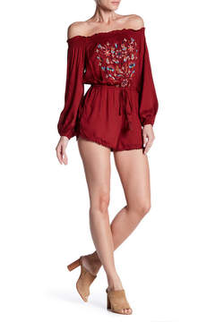 Angie Long Sleeve Off-the-Shoulder Romper