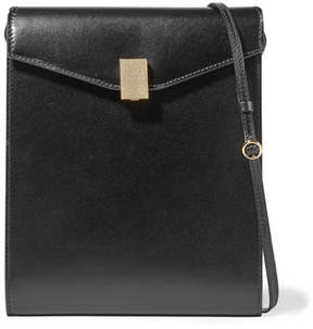 Victoria Beckham Postino Leather Shoulder Bag - Black