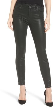7 For All Mankind Women's Coated Ankle Skinny Jeans