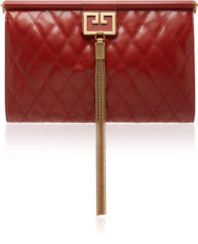 Givenchy Gem Tassel Oversized Quilted Leather Clutch
