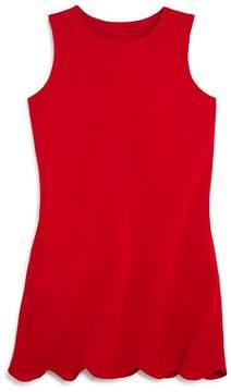 Aqua Girls' Ponte Scalloped Hem Dress, Big Kid - 100% Exclusive