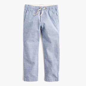 J.Crew Boys' chambray pull-on pant with reinforced knees